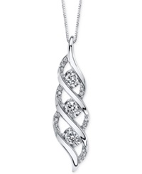 Sirena Diamond Twist Pendant Necklace 5 8 Ct. T.W. In 14K White Gold