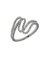 Lord And Taylor Diamond 14K White Gold Swirls Ring