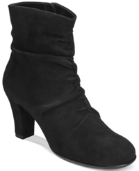 Aerosoles Good Role Slouchy Booties Women's Shoes Black Fabric