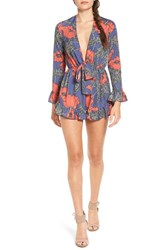 Tularosa Women's 'Bishop' Floral Print Long Sleeve Romper
