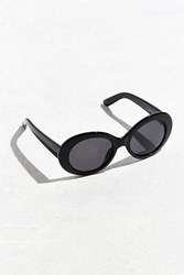 Urban Outfitters Plastic Oval Sunglasses Black