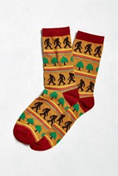 Urban Outfitters Big Foot Sock Gold