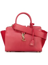 Saint Laurent Baby 'Cabas Monogram' Tote Red