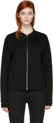 Alexander Wang Black Knit Zip Jacket