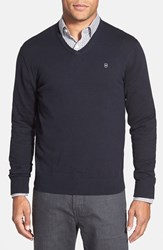 Men's Victorinox Swiss Army 'Signature' Tailored Fit V Neck Sweater Navy