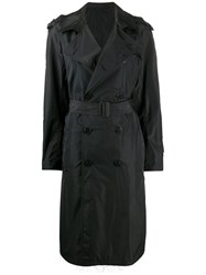 Neil Barrett Frayed Double Breasted Trench Coat 60