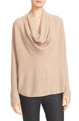 Joie Women's Mikkelin Wool And Cashmere Drape Neck Sweater Heather Camel