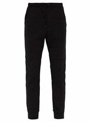 Fendi Reflective Logo Cotton Track Pants Black Multi