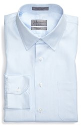 John W. Nordstromr Men's Big And Tall Nordstrom Traditional Fit Herringbone Dress Shirt Blue