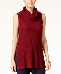 Ultra Flirt Juniors' Sleeveless Cowl Neck Tunic Tawny Port