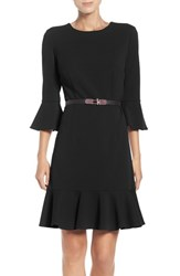 Ivanka Trump Women's Flutter Dress Black