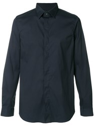 Mauro Grifoni Stretch Shirt Blue