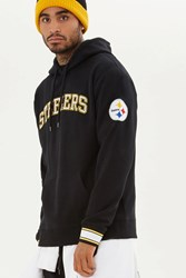 Forever 21 Nfl Steelers Fleece Hoodie Black White