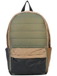 Mostly Heard Rarely Seen Quilted Backpack Green