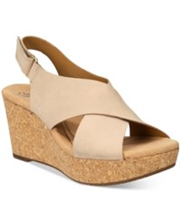 Clarks Collections Women's Annadel Eirwyn Wedge Sandals Women's Shoes Taupe