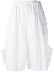 Comme Des Garcons Stretch Waistband Shorts White