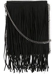 Stella Mccartney 'Falabella' Flat Shoulder Bag Black