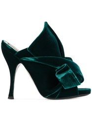 N 21 No21 Green Velvet Bow 110 Mules