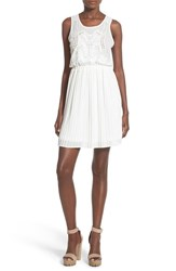 Women's Glamorous Embroidered Bodice Pleated Dress