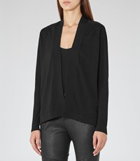 Reiss Lexa Womens Open Front Cardigan In Black