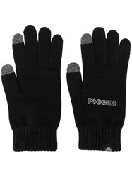 Gosha Rubchinskiy Graphic Slogan Gloves Black