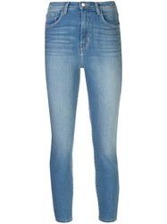 L'agence Denim Cropped Skinny Jeans Blue