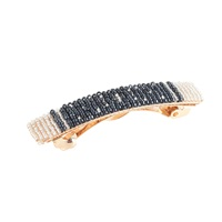 J.Crew Beaded Hair Clip Block Stripe