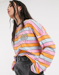 The Ragged Priest Long Sleeve Striped Tee Multi