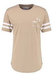 Only And Sons Onsbrad Print Tshirt Crockery Beige