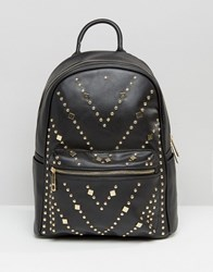 Yoki Fashion Studded Backpack Black