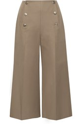 Sonia Rykiel Linen And Cotton Blend Culottes Green