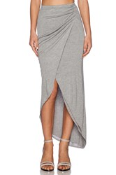 Michael Stars Asymmetrical Drape Skirt Gray