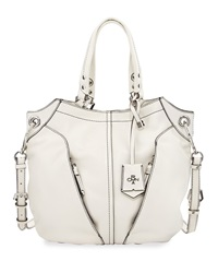 Victoria Leather Tote Bag White Oryany