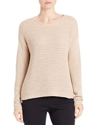 Lord And Taylor Loose Knit Sweater Toast