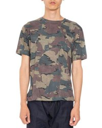 Dries Van Noten Hague Patchwork Camo T Shirt Khaki