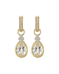Jude Frances Provence White Topaz Pear Earring Charms With Diamonds