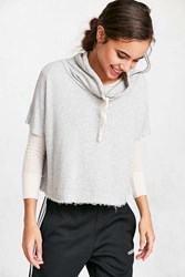 Truly Madly Deeply Funnel Neck Swing Sweatshirt Grey