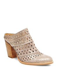 Steve Madden Harmony Laser Cut Leather Mules Gold