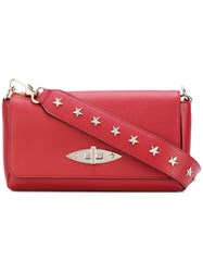 Red Valentino Star Studded Clutch Women Leather One Size Red