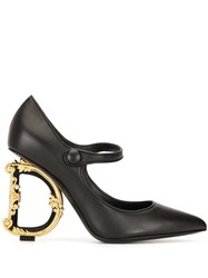 Dolce And Gabbana Mary Jane Baroque Heel Pumps 60