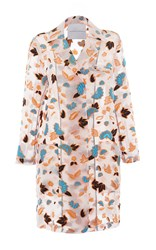 Francesco Scognamiglio Long Sleeve Floral Jacket White