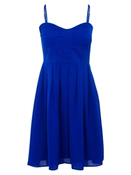 Wolf And Whistle Babydoll Dress Electric Blue
