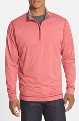 Cutter And Buck Men's 'Topspin' Drytec Half Zip Pullover Cardinal Red Heather