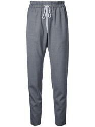 Astraet Drawstring Cropped Trousers Grey
