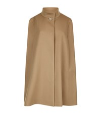 Harrods Of London Stand Collar Cape Female Neutral