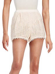 See By Chloe Regular Fit Lace Shorts Pink