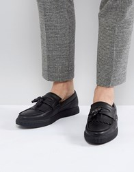 Asos Loafers In Black With Creeper Sole Black