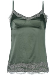 P.A.R.O.S.H. Lace Detail Top Green