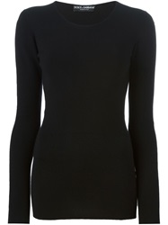 Dolce And Gabbana Fitted Sweater Black