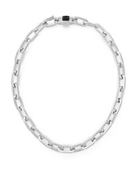 Vince Camuto Linked In Style Chain Link Necklace Silvertone